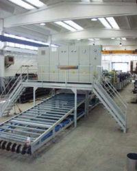 Modell 10180, Bandbreite 1800mm, 3 Waschzonen, Spülzone mit demineralisierten Wasser, abblasen, trocknen, kühlen