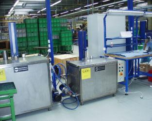 Industrie Tauchwaschanlage